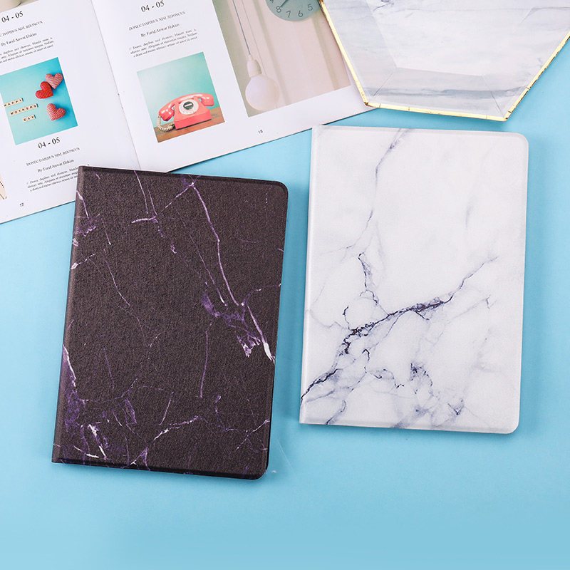 Texture Smart 2019 2020 10.2inch iPad Case Marble Cover Leather PU Magnetic for Back PC