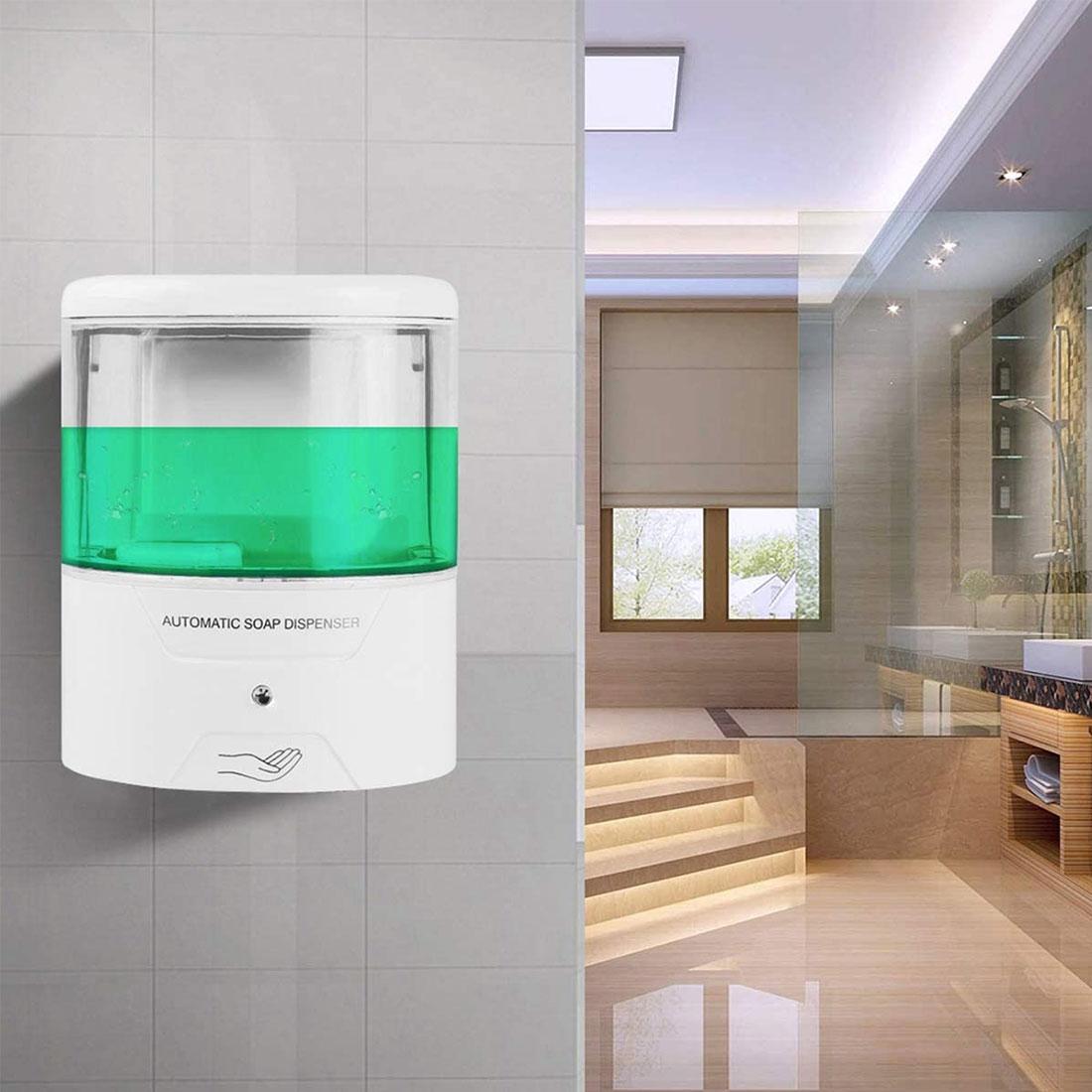 Белый 600мл настенный инфракрасный индукции умный жидкое мыло дозатор Автоматический дозатор мыла для кухни ванная комната