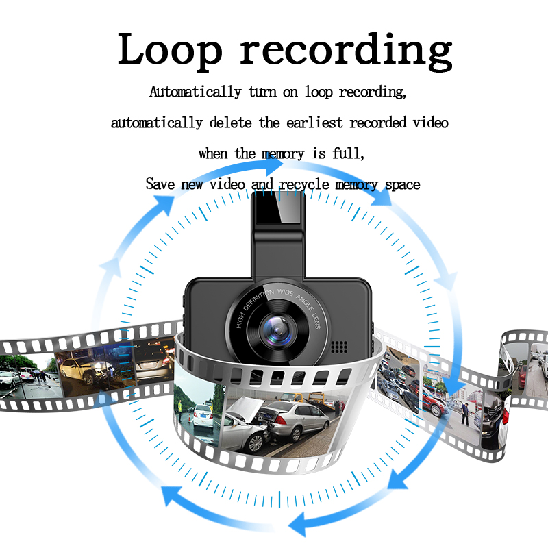 Original AZDOME M17 Dash Cam 1080P HD Night 24H Parking Monitor Video Recorder Night Vision WiFi Car DVR Dual Lens Car Camera 5