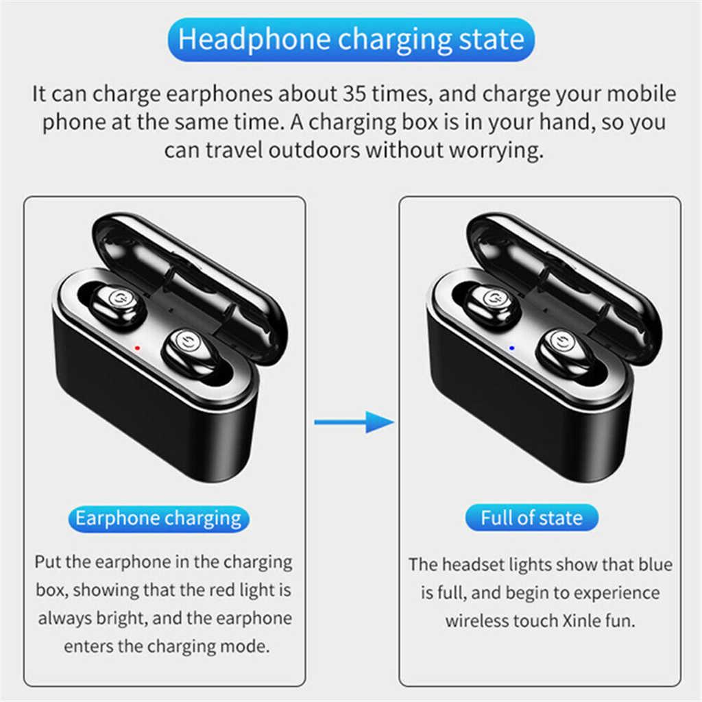 TWS Bluetooth 真のワイヤレスイヤホンステレオイヤフォンミニ TWS 防水 Headfrees 3000 2600mah のスマートフォン用