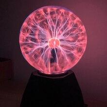 Lighting Novelty Decor Touch-Lamp Plasma-Ball Led-Night-Light Magic Birthday 220V Crystal