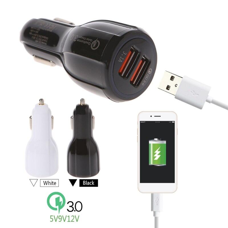 Двойной USB 5V 3.1A QC3.0 быстрая зарядка автомобильное зарядное устройство для iPhone X 8 7 Sumsung S8 S7