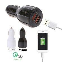 Duplo usb 5 v 3.1a qc3.0 carregador de carro de carregamento rápido para o iphone x 8 7 sumsung s8 s7