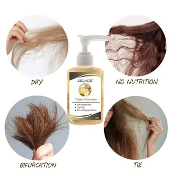 Szampon przeciw utrata włosów szampon potężny zabieg esencja zioła Ginger Cooler balsam do wzrostu włosów dla kobiet mężczyzn tanie i dobre opinie CN (pochodzenie) Unisex 60ml HXF2985A Wszystkie