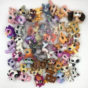 Image 3 - LPS חתול 10 יח\חבילה מיני לחיות מחמד חנות צעצועים חמוד עומד חתול כלב ישן נדיר מקורי דמות בעלי החיים אוסף חתלתול קולי ספנייל