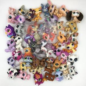Image 3 - LPS CAT 10pcs/lot Mini Pet Shop Toys Cute Stands Cat Dog Old Rare Original Figure Animal Collection Kitten Collie Spaniel