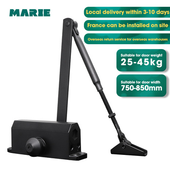 Marie1102Black Automatic Door Closer Hydraulic  Home Simple Installation Door Protection Non-Positioning Door Closer For 25-45kg