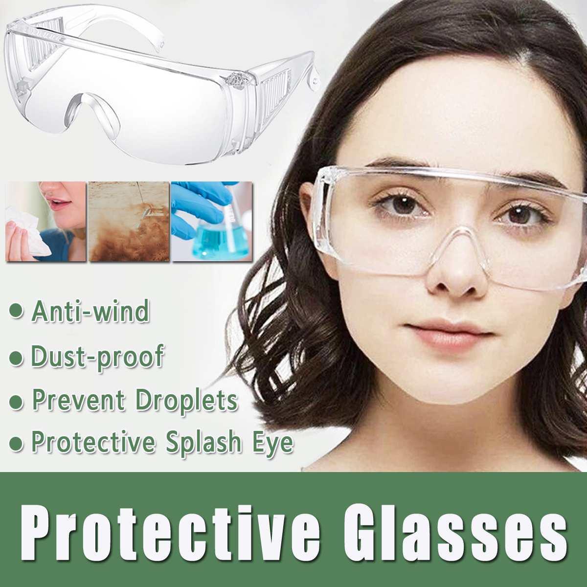 Safety Goggles Glasses Transparent Dust-Proof Glasses Working Glasses Lab Dental Eyewear Splash Eye Protective Anti-wind Glasses