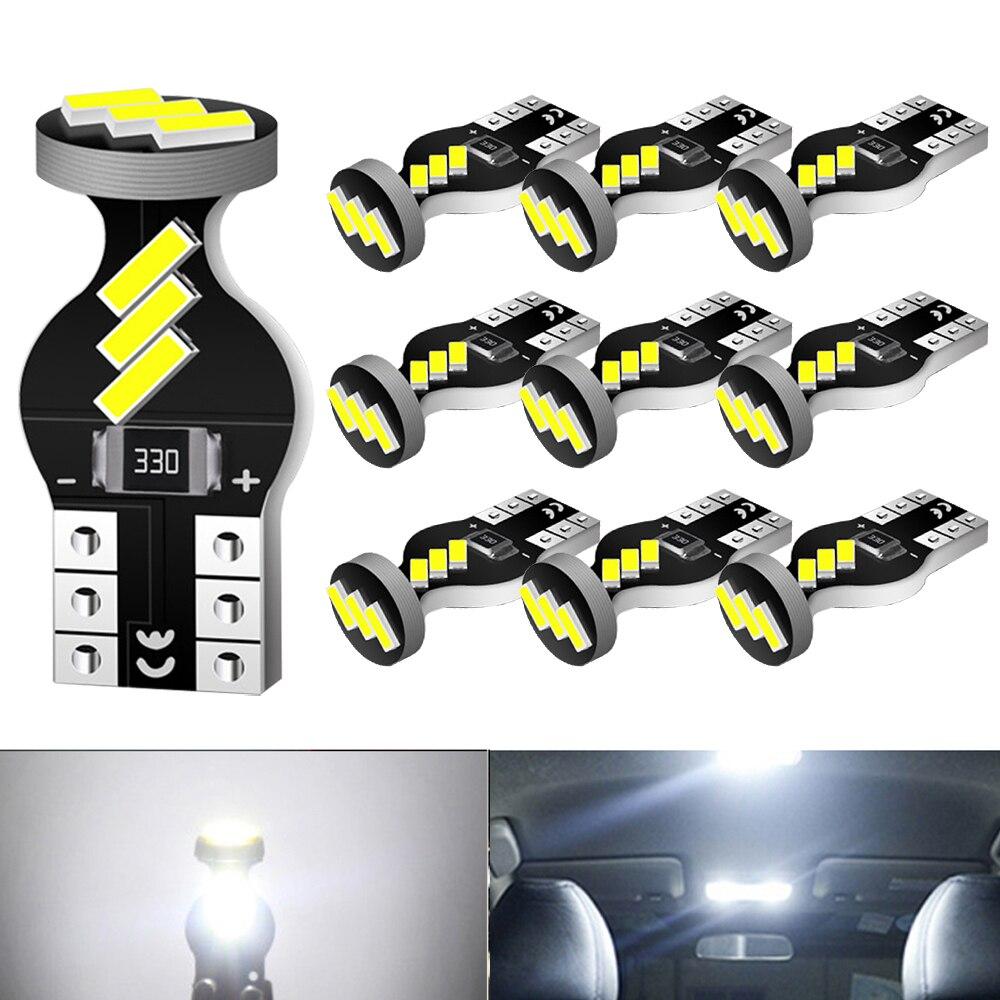 Bombillas LED Canbus para posición de aparcamiento, luz Interior, para Kia Sportage Rio K2 K3 K5 Ceed Cerato Sorento, W5W, T10, 10uds.