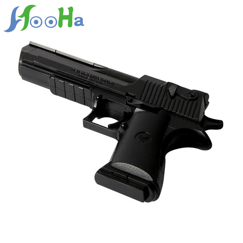 Hot Sale Assembled Toy Building Block Pistol Assembly Pistol Can Fire And Insert Toy Gun Props For Children Birthday Gifts
