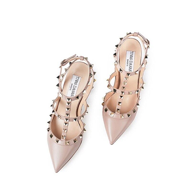 Г., женская обувь летние модные женские сандалии стильная женская обувь на высоком каблуке из искусственной кожи с заклепками и металлическими украшениями, Zapatos De Mujer