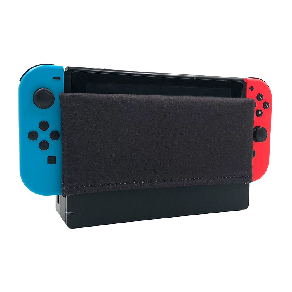Nintend Switch Dock Cover Sleeve Black Dock Sock Decal Soft Suede Anti-scratch Protection Accessories For Nintendos Switch Dock