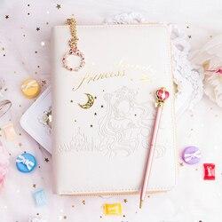 Anime Figuur Mooie Maan Leer Agenda Planner Rits Zak Maandelijkse Wekelijkse Dagboek Journal Notebook Schrijfblokken Briefpapier D40