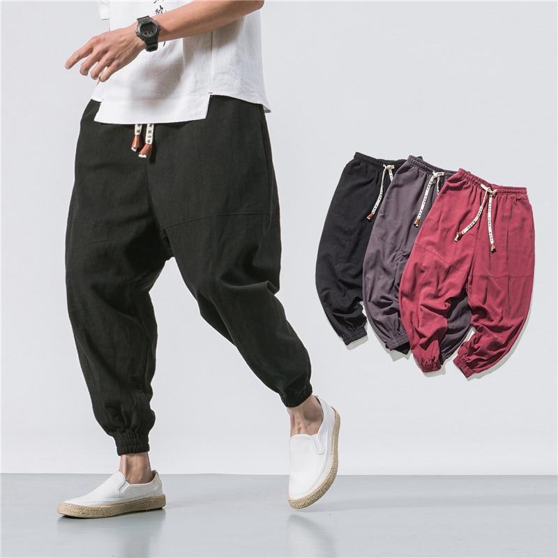 New 2020 Men Pants Hip Hop Joggers Fashion Basic Solid Elastic Waist Trousers Casual Pockets High Quality Mens Sweatpants