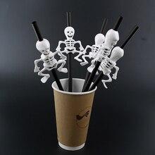 5 шт., соломинки для Хэллоуина, вечерние соломинки для Хэллоуина