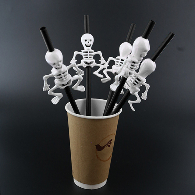 5Pc Halloween Pumpkin Straw Ghost Straws Halloween Decoration Straws Halloween Party Supplies Halloween Decorations for Home