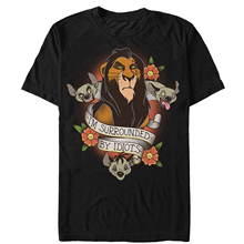 Lion King Men's Scar Surrounded By Idiots Tattoo T-Shirt