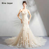 Vestido De Noiva Sereia 2019 Schatz Neck Lace Up Perlen Appliques Blumen Meerjungfrau Hochzeit Kleider Chia Shop Online Mariage