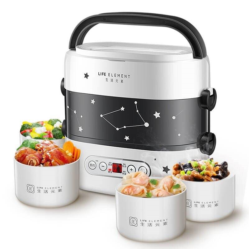 Смарт Электрический Коробки для обедов маленький рис Плита двойной Слои автоматическая система отопления Керамика лайнер Smart Touch ЖК диспле