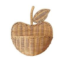 Hand Woven Flower Wicker  Shape Picnic Rattan Basket Cute Kids Clothing Storage Organizer Eco-friendly Hanging Home Decor
