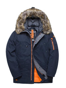Winter Jacket Padded Parkas Tiger-Force Big-Pockets Medium-Long Thick Man Fur Coat Artificial-Fur