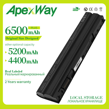 6500mAh New Battery for Dell Latitude E5420 E5430 E6120 E5520 M5Y0X E5530 E6420 E6430 E6520 8858x 3560 T54F3 T54FJ 8P3YX 911MD аккумулятор rocknparts zip 11 1v 5100mah для dell latitude e6420 inspiron 15r 5520 17r 5720 17r se 7720 latitude e5420 e5430 478560