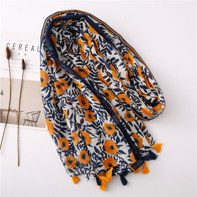 Foulard de Hijab style style bohémien 2
