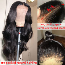 Body Wave 13×6 Lace Front Human Hair Wigs For Black Women Pre Plucked Hairline 13×4 Lace Front Wig 8-26inch Brazilian Remy Hair