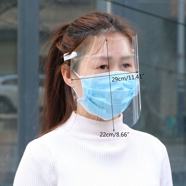Transparent Anti-saliva Dust-proof Protect Full Face Covering Mask Visor Shield 5