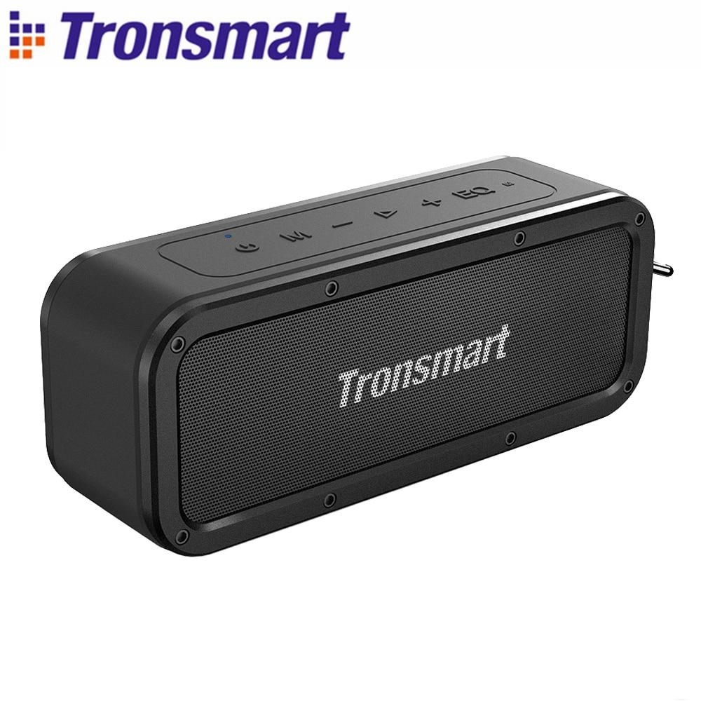 Tronsmart força tws bluetooth alto-falante 5.0 40 w portátil ipx7 à prova dwaterproof água 15 h tempo de jogo com voz assistente nfc