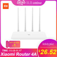 Xiaomi Router 4A Gigabit wersja 2.4GHz 5GHz Router wi-fi dwuzakresowy 1167 mb/s wzmacniacz sygnału wifi 4 anteny 128 MB/4C 64MB 300 mb/s
