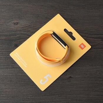 100% Original Xiaomi mi band 6 5 strap silicone bracelet Mi band6 Yellow Strap wrist XiaoMi Mi Band 5 replacement silicone strap 13