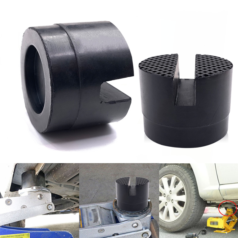 Floor Slotted Car Rubber Jack Pad Frame Protector Adapter Jacking Disk Pad Tool Pinch Weld Side Lifting Disk for BMW Audi Ford image