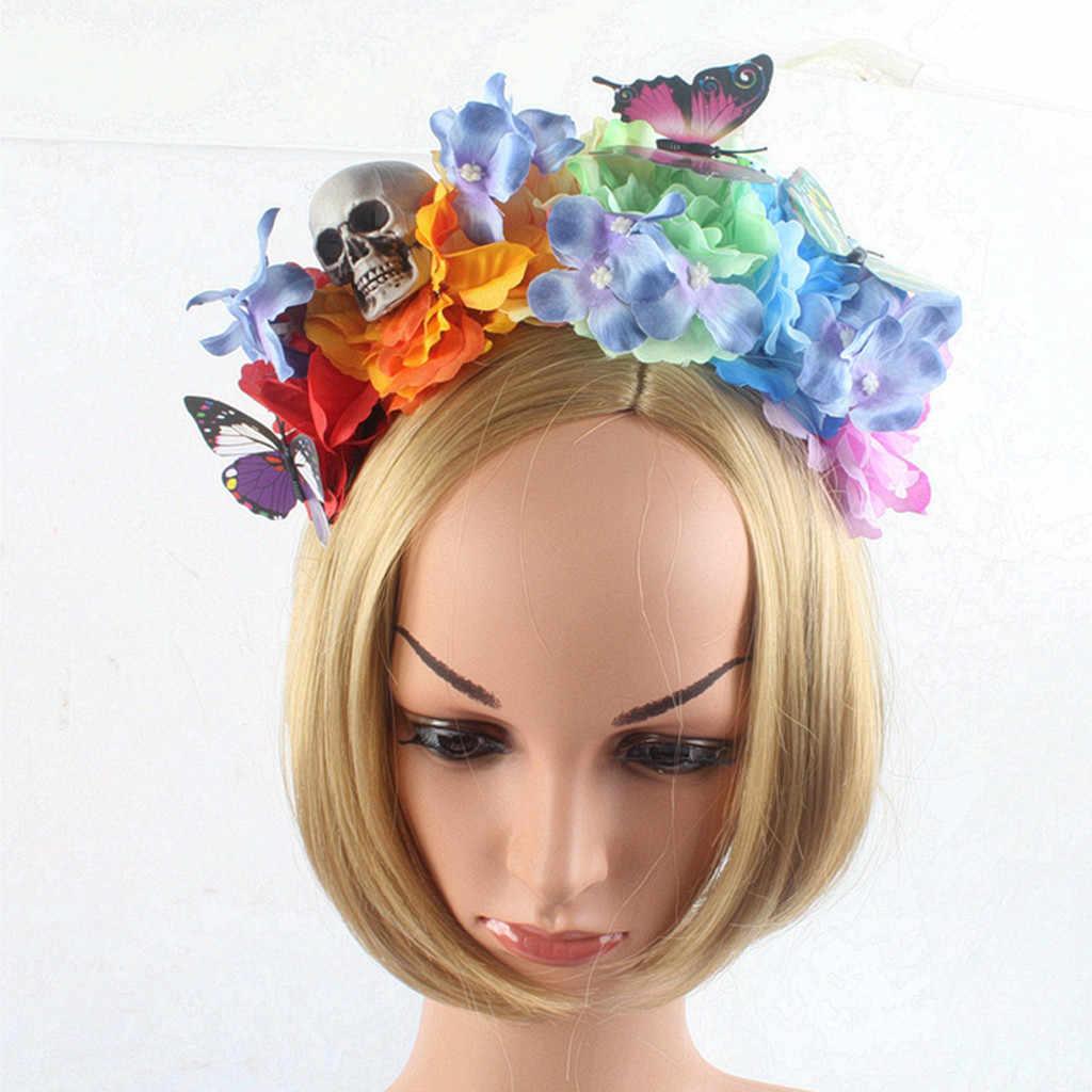 Милые повязки на голову для девочек, регулируемая повязка на голову на Хэллоуин, милые цветочные аксессуары для выпускного вечера, детские подарки на день рождения, повязки на голову, Moda Mujer 2019