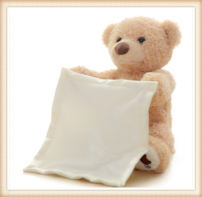 30 Cm Lucu Boneka Beruang Menyembunyikan Dan Mencari Animasi Boneka Beruang Berbicara Pemalu Beruang Hadiah Ulang Tahun Terbaik Untuk Anak Anak Stuffed Plush Hewan Aliexpress