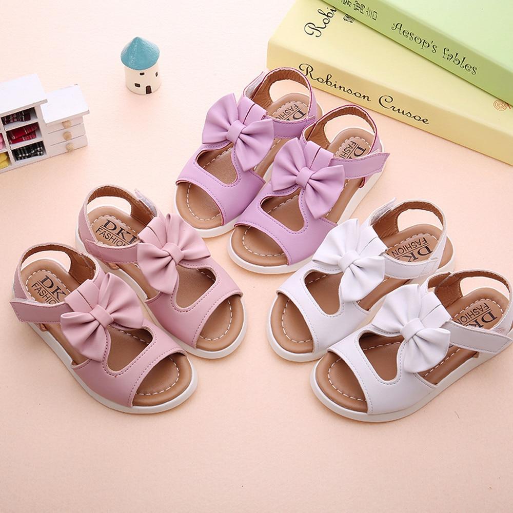 Summer Kids Children Sandals Fashion Bowknot Girls Flat Pricness Shoeschaussures Kids Shoes детская обувь Sandals For Girls