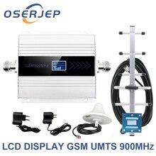 Led ディスプレイの gsm 900 リピータ celular 携帯電話の信号リピータブースター、 900 Mhz の Gsm アンプ + 八木/天井アンテナ