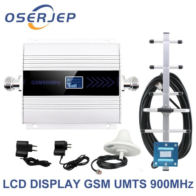 Màn hình hiển thị LED GSM 900 Mhz Repeater celular DI ĐỘNG ĐIỆN THOẠI Lặp Tín Hiệu tăng áp, 900MHz GSM khuếch đại + Yagi/Trần Ăng Ten