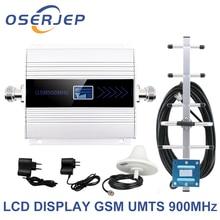 จอแสดงผล led GSM 900 Mhz repeater celular โทรศัพท์มือถือสัญญาณ Repeater booster, 900MHz GSM เครื่องขยายเสียง + Yagi/เสาอากาศเพดาน