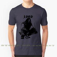 Super herói super herói vilão supervilão lobo silhueta legal design na moda camiseta