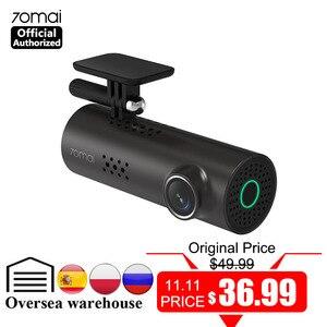 Image 1 - 70mai traço cam carro dvr wifi app controle de voz 70 mai traço cam 1s fhd 1080p visão noturna câmera do carro gravador de vídeo automático g sensor