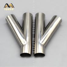 1 sztuk 304 ze stali nierdzewnej klasy sanitarnej typu trójdrożny spawane rury uniwersalne rury wydechowej spawane tłumik rura łącząca montaż tanie tanio CN (pochodzenie) Y-0002 304 stainless steel