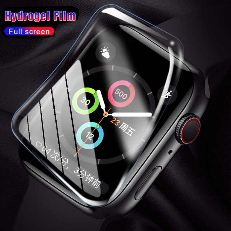 Full Edge Cover Hydrogel Film Soft Screen Protector Protective Guard For iwatch Apple Watch Series 1/2/3/4 38mm 42mm 40mm 44mm