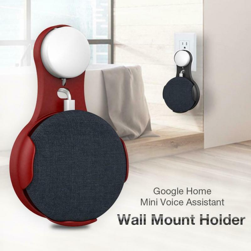 Outlet Wall Suspension Mount Hanger Speaker Holder Bracket Stand Space Saving For Google Home Mini Voice Assistant US/EU/UK Plug