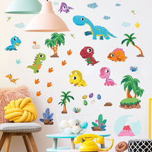 Creative cartoon dinosaur wall stickers personality children's room cartoon wall decoration PVC graffiti stickers