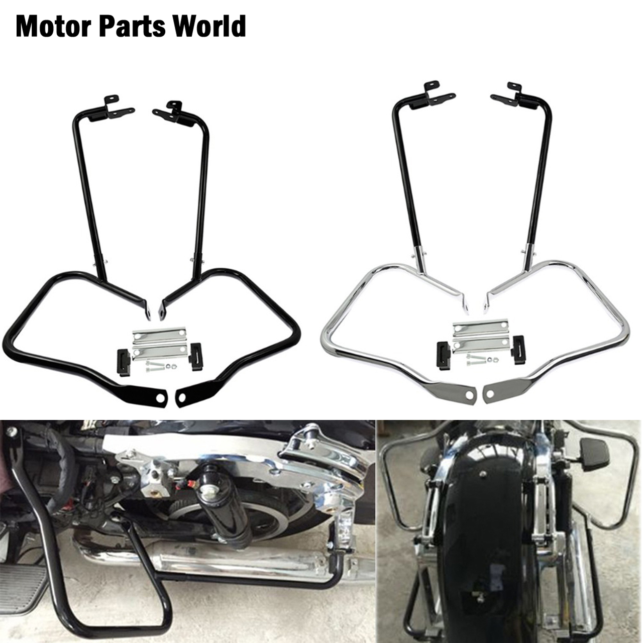 Motorcycle Saddlebag Bracket Guard Bars Kits For Harley Touring Electra Glide Road Glide Street Glide Road King FLHR 2014 2020Covers & Ornamental Mouldings   -