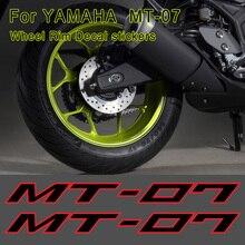 Sticker Motorcycle MT 07 Decal Stripes Wheel Rim For YAMAHA MT-07 MT07 Wheels Rims Tank Helmet Body Shell 2017 2018 2019