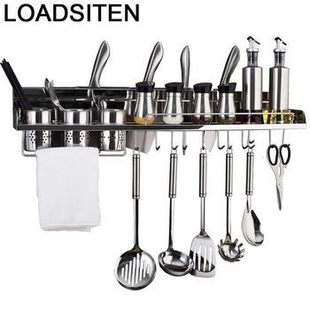 Organizador De Cocina, Organizador De organización De accesorios, estante De acero inoxidable...
