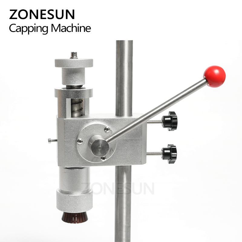 Image 4 - ZONESUN Manual Crimping Machine Perfume Crimper Capper Metal Collar Cap Press Capping Machine Spray Crimper SealsVacuum Food Sealers   -