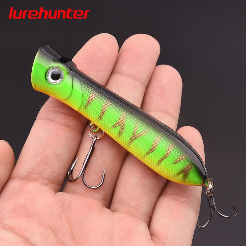 1Pcs 8cm 11g 6# Hooks Pesca Artificial Bait Peche Fishing Tackle Top Water Popper Lure Fishing Wobbler Crankbait